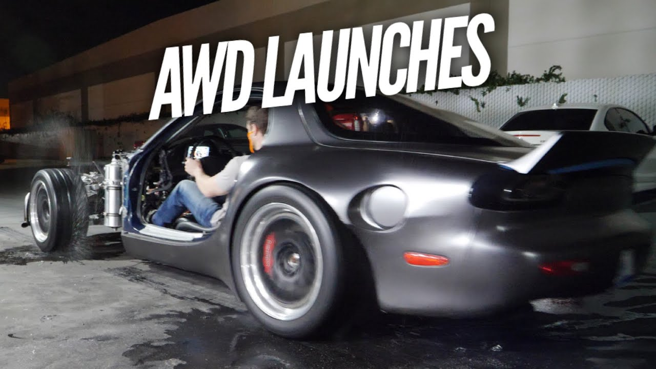 2 STEP AWD LAUNCHING. 4 ROTOR RX-7 GETS MORE FUEL