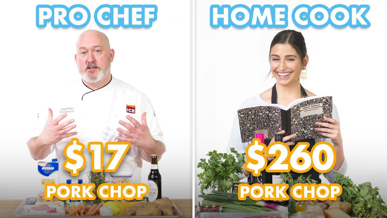 $260 vs $17 Pork Chop Dinner: Pro Chef & Home Cook Swap Ingredients | Epicurious