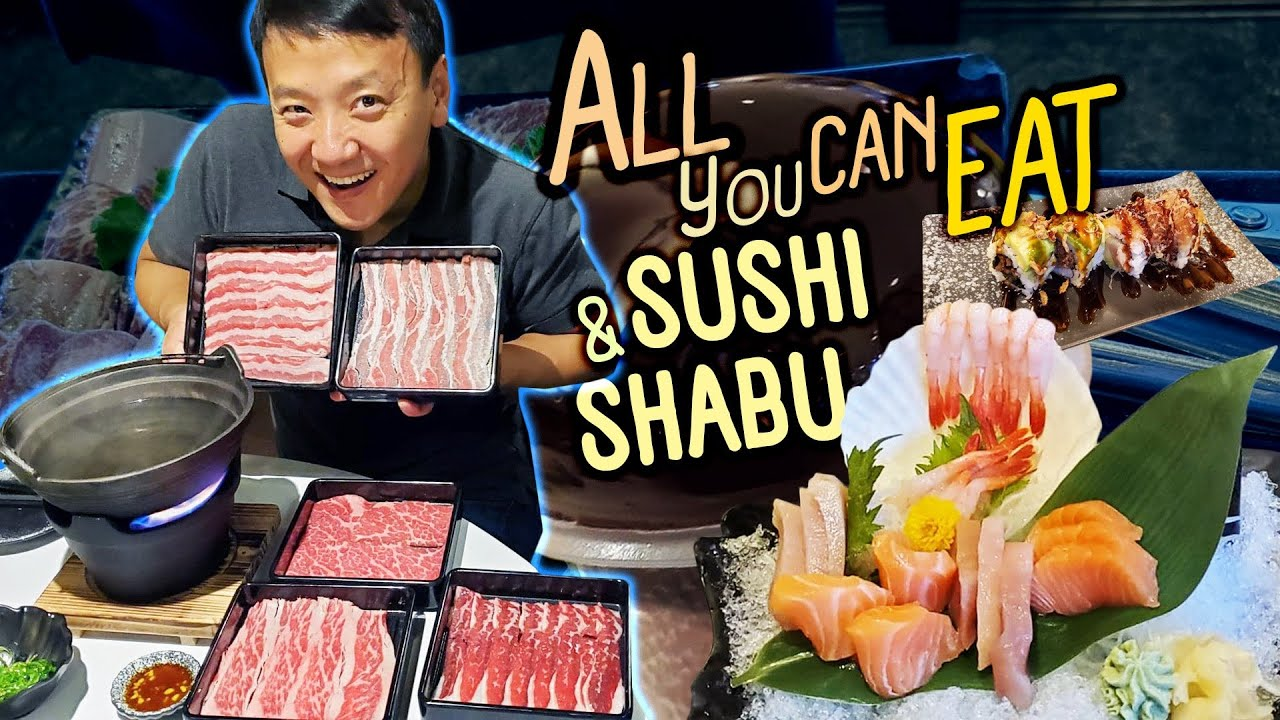 All You Can Eat SUSHI & SHABU! Isolation CRAZINESS & Made a New Friend