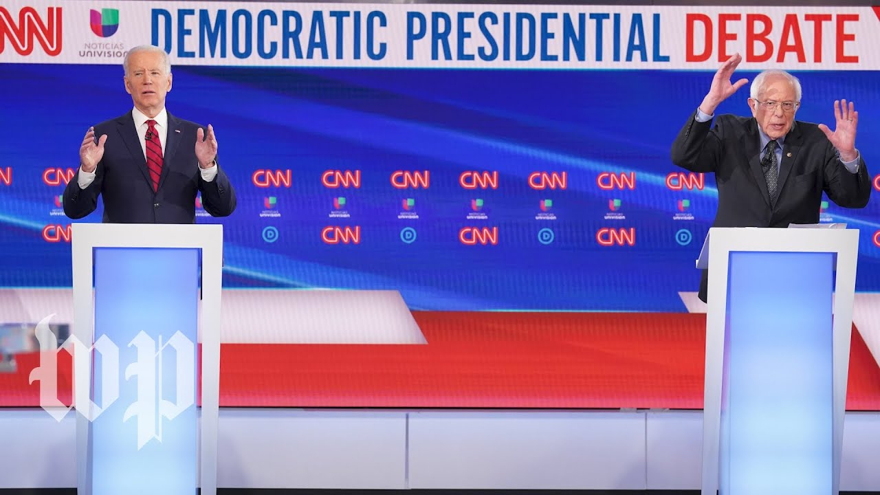 Biden and Sanders's first one-on-one debate in 3 minutes