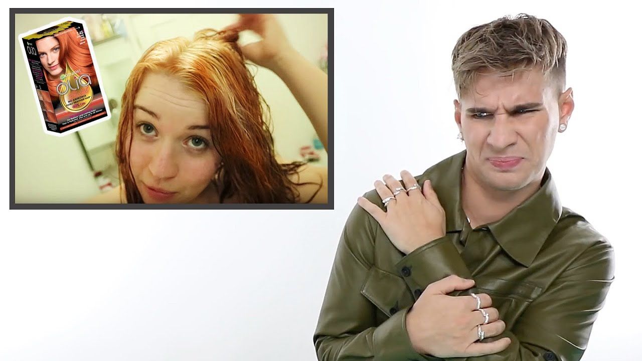 Hairdresser Reacts: Black To Orange Hair Using Box Dye