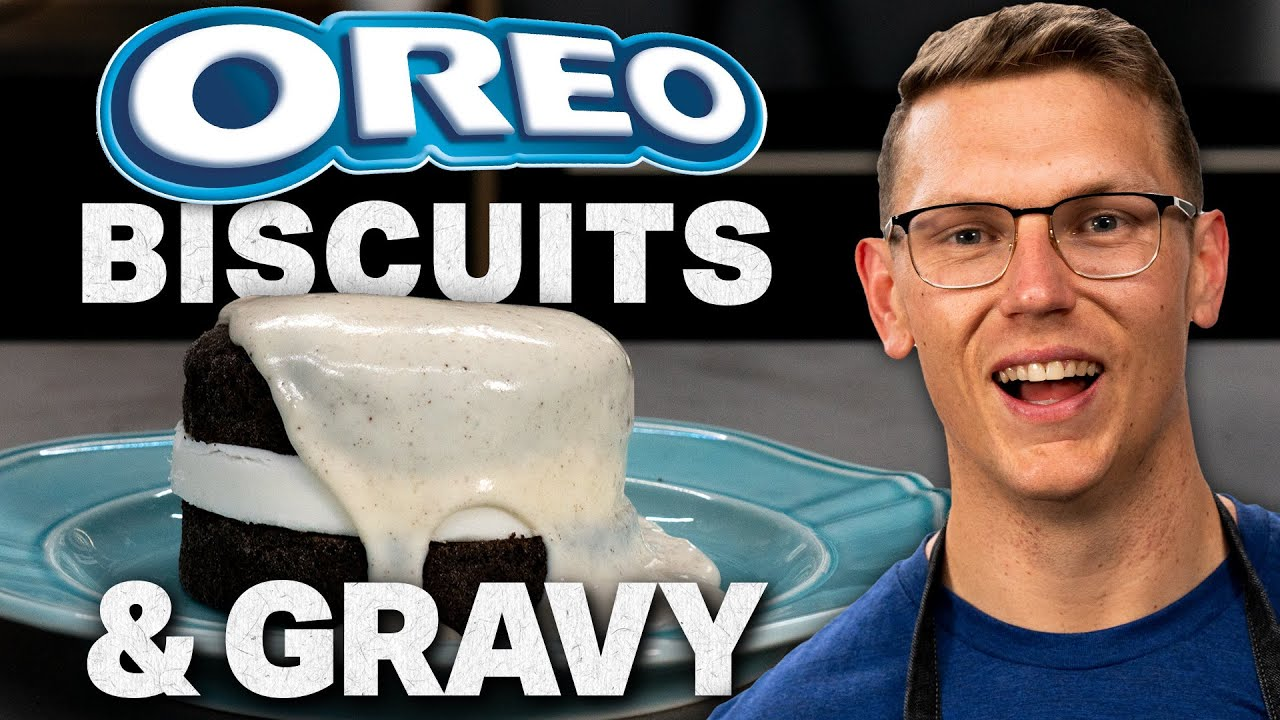 Oreo Biscuits and Gravy Recipe | Mythical Kitchen