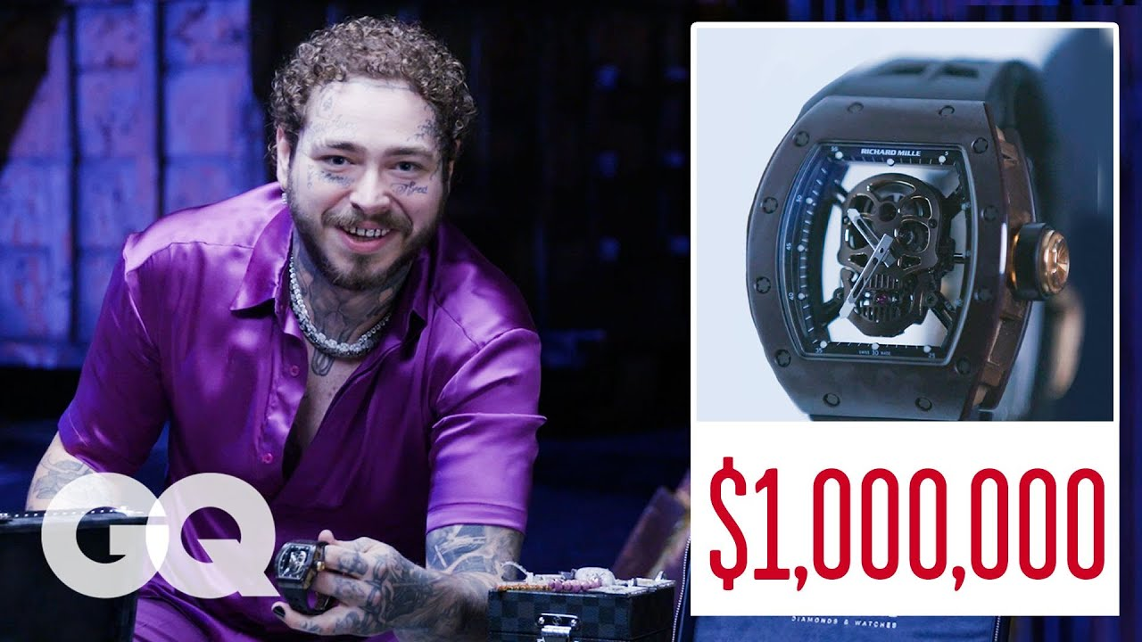 Post Malone Shows Off His Insane Jewelry Collection Part 2   On the Rocks   GQ