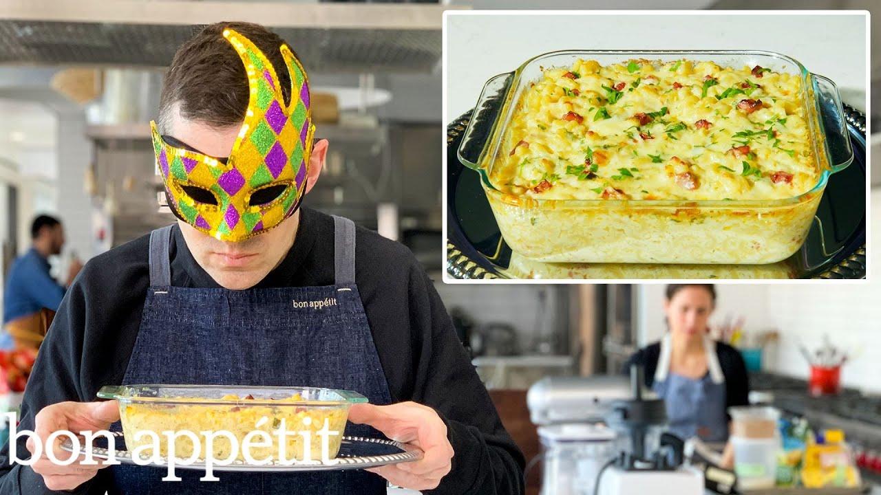 Recreating Bobby Flay's Macaroni & Cheese Carbonara From Taste   Bon Appétit