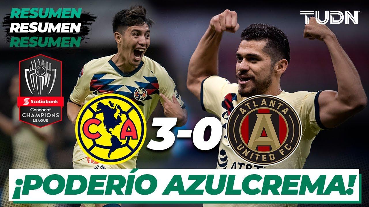Resumen y Goles | América 3 – 0 Atlanta | CONCACAF Champions – 4tos Ida | TUDN