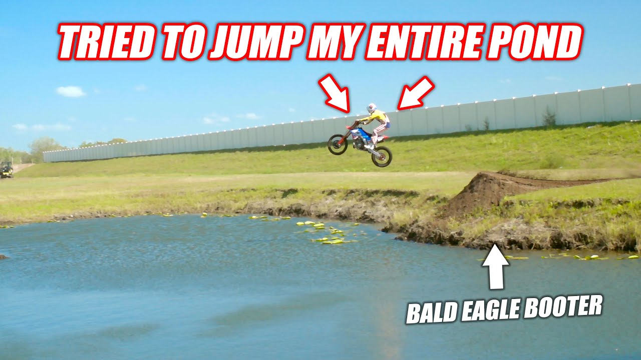Ronnie Mac Visited My House and Attempted the World's Most Legendary Pond Gap… *BALD EAGLE BOOTER*