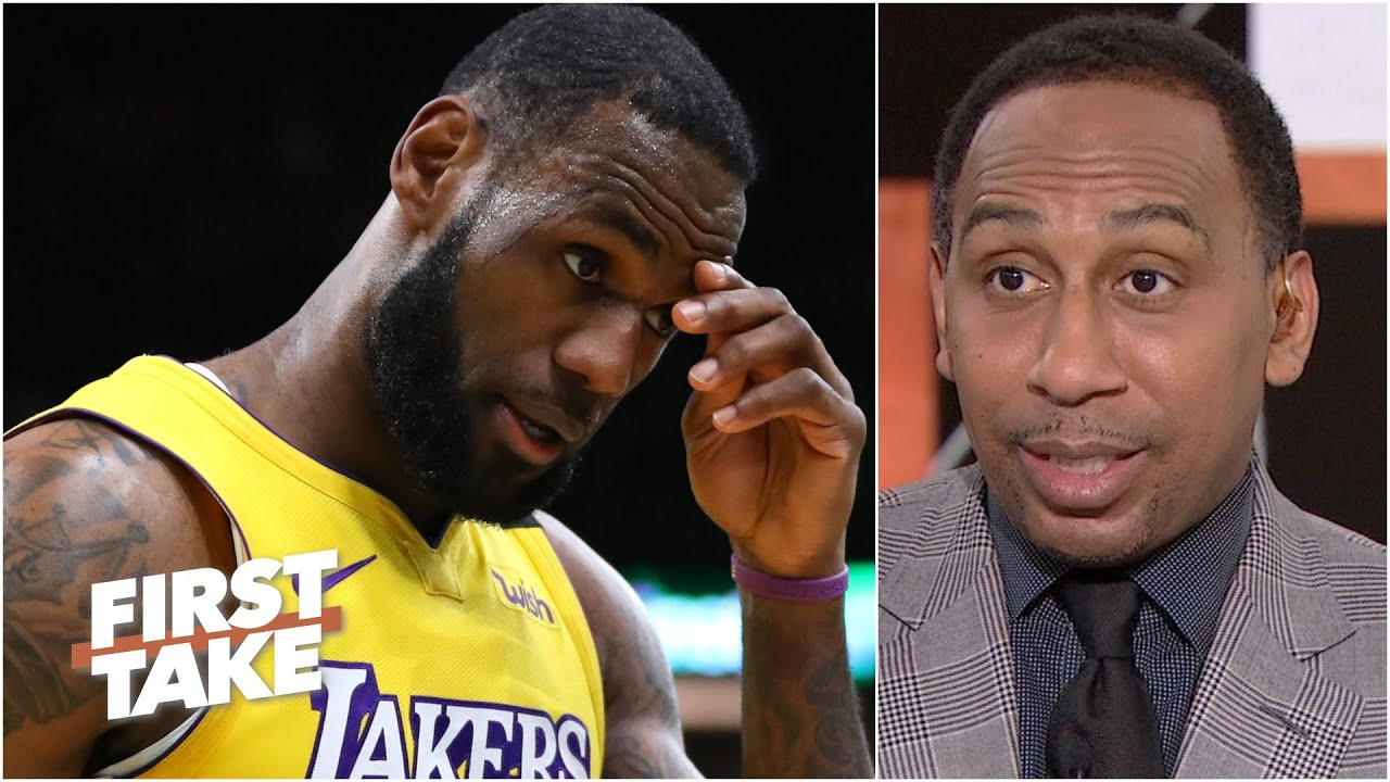 Stephen A. reacts to LeBron coming up short in a loss to the Nets | First Take