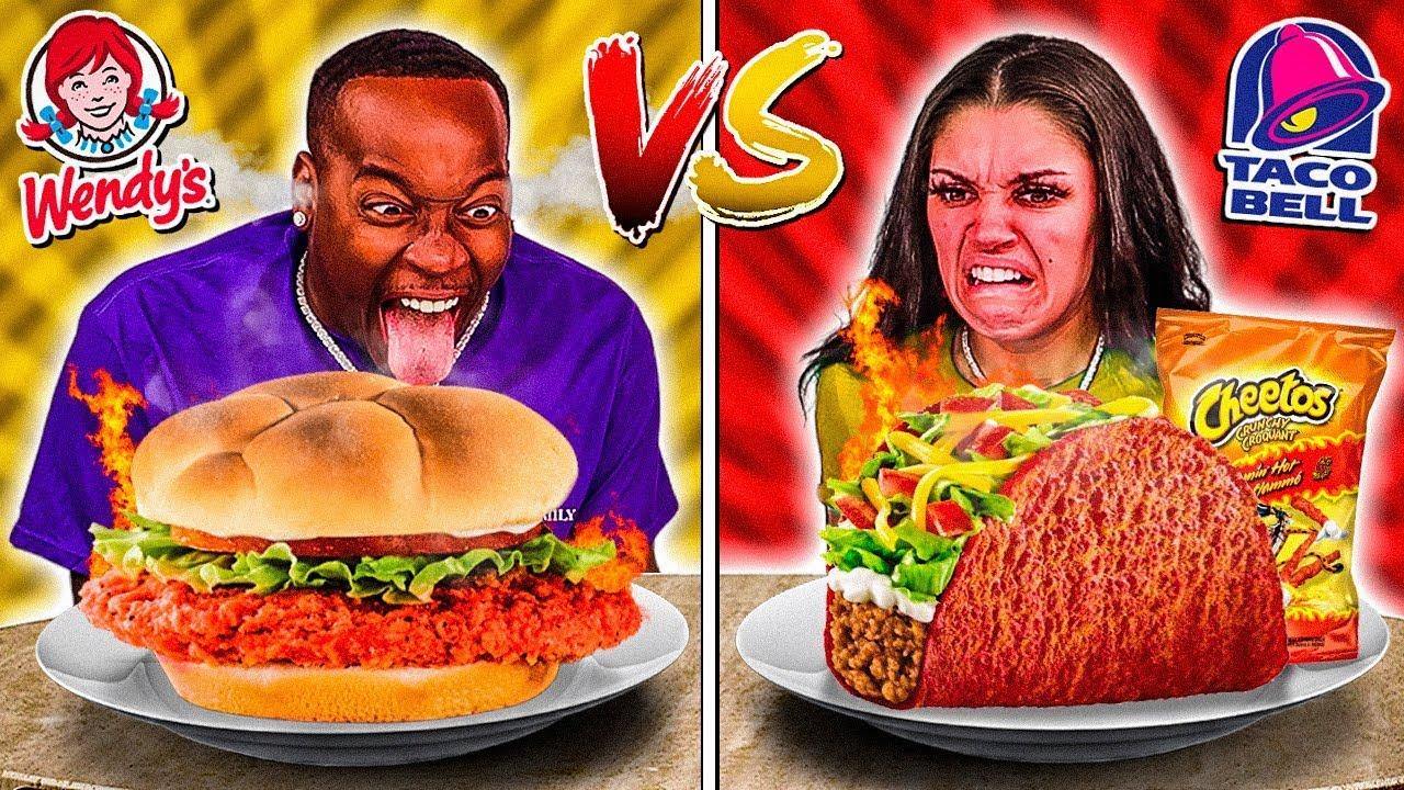 TACO BELL VS WENDYS FOOD CHALLENGE