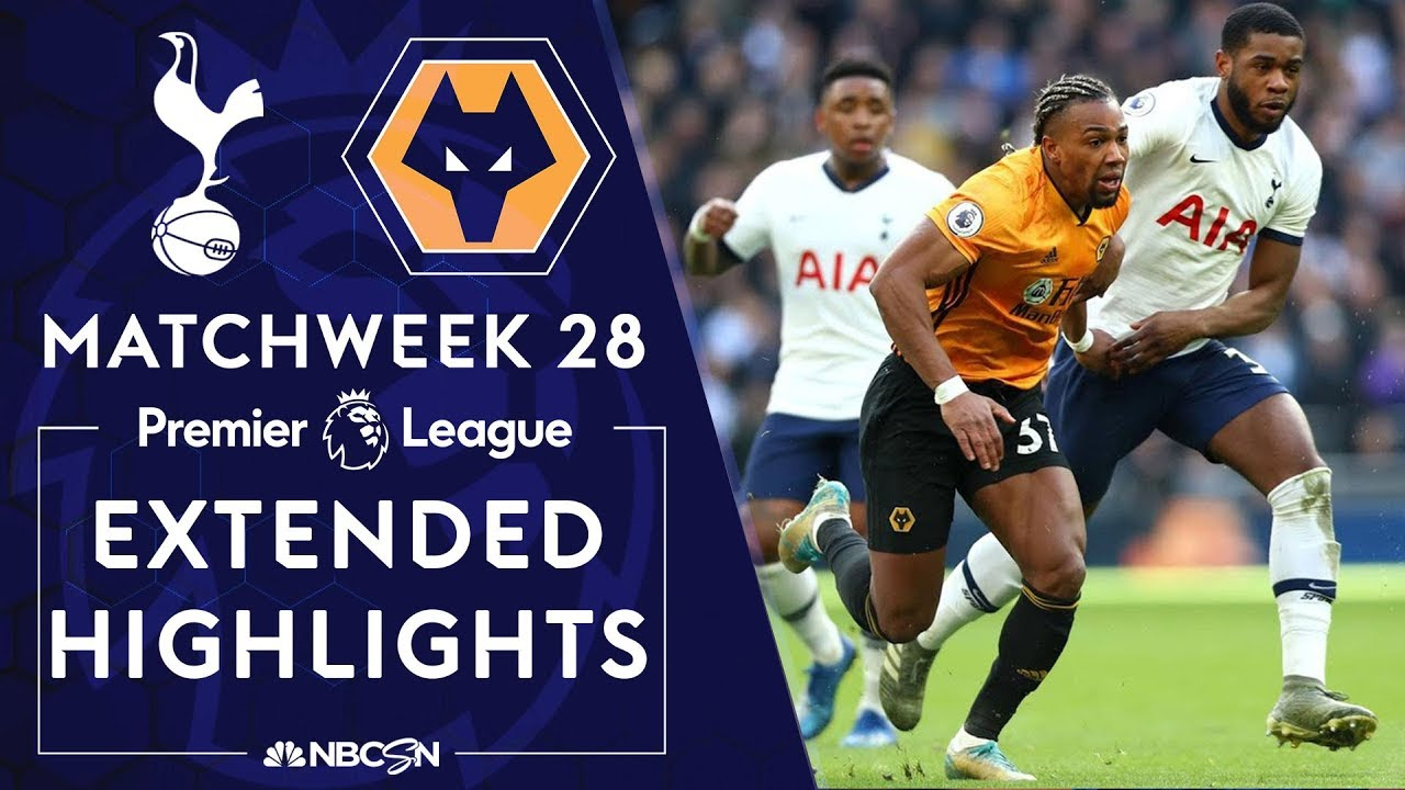 Tottenham v. Wolves | PREMIER LEAGUE HIGHLIGHTS | 3/1/2020 | NBC Sports