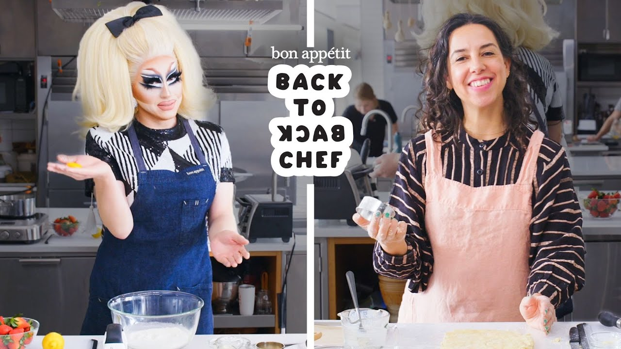 Trixie Mattel Tries to Keep Up with a Professional Chef | Back-to-Back Chef | Bon Appétit