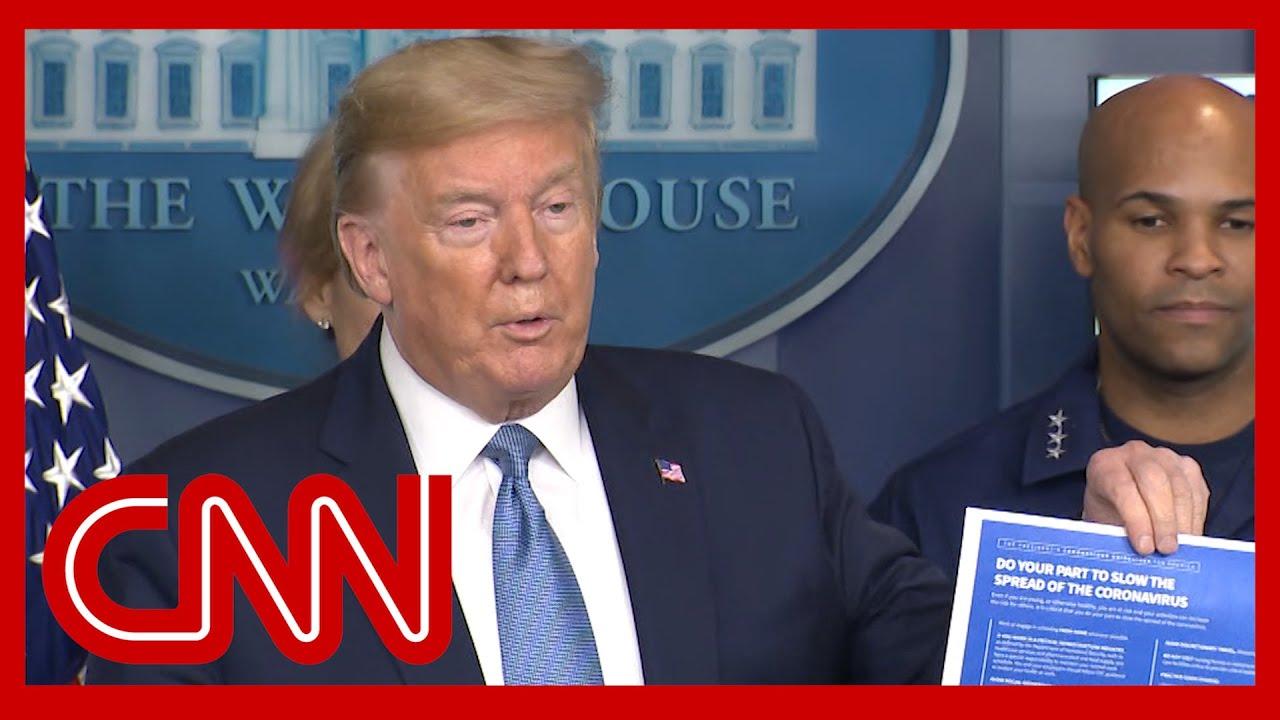 Trump announces tougher coronavirus guidelines