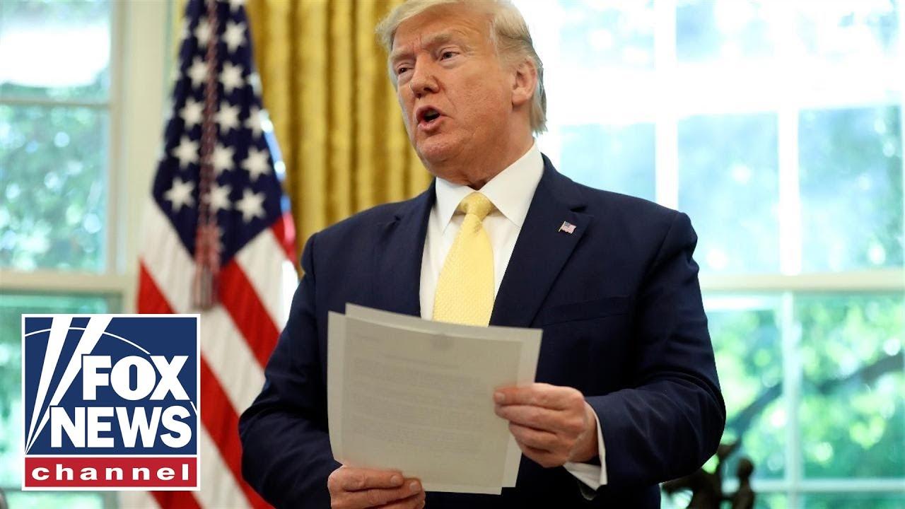 Trump discusses economics surrounding coronavirus in press conference