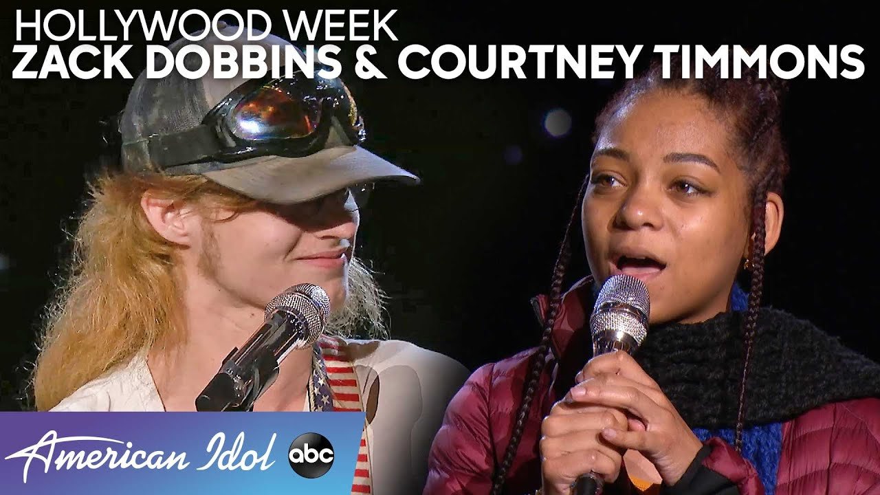 Two Worlds Collide During Courtney Timmons' and Zack Dobbins' Duet – American Idol 2020