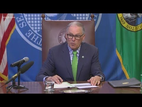 WATCH LIVE: Gov. Inslee issues statewide 'Stay Home' order in Washington amid coronavirus pandemic