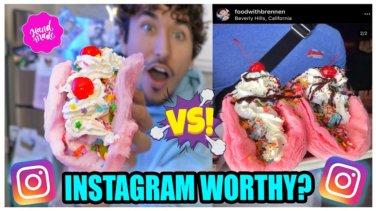 We RECREATED Viral Instagram Food (with NO Recipe…)
