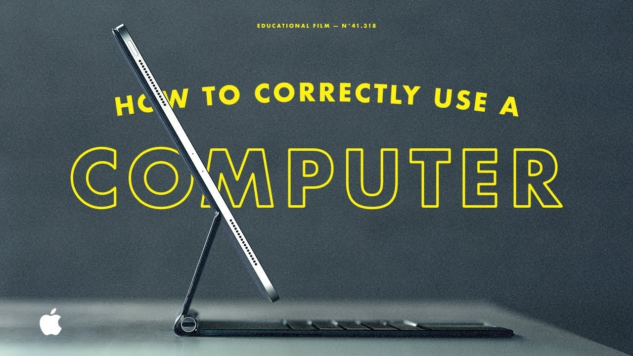 iPad Pro — How to correctly use a computer — Apple