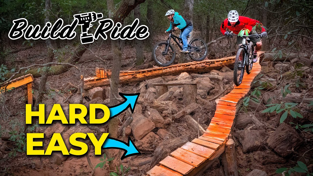 "Building a skinny ""snake tongue"" bridge for mountain bikes"