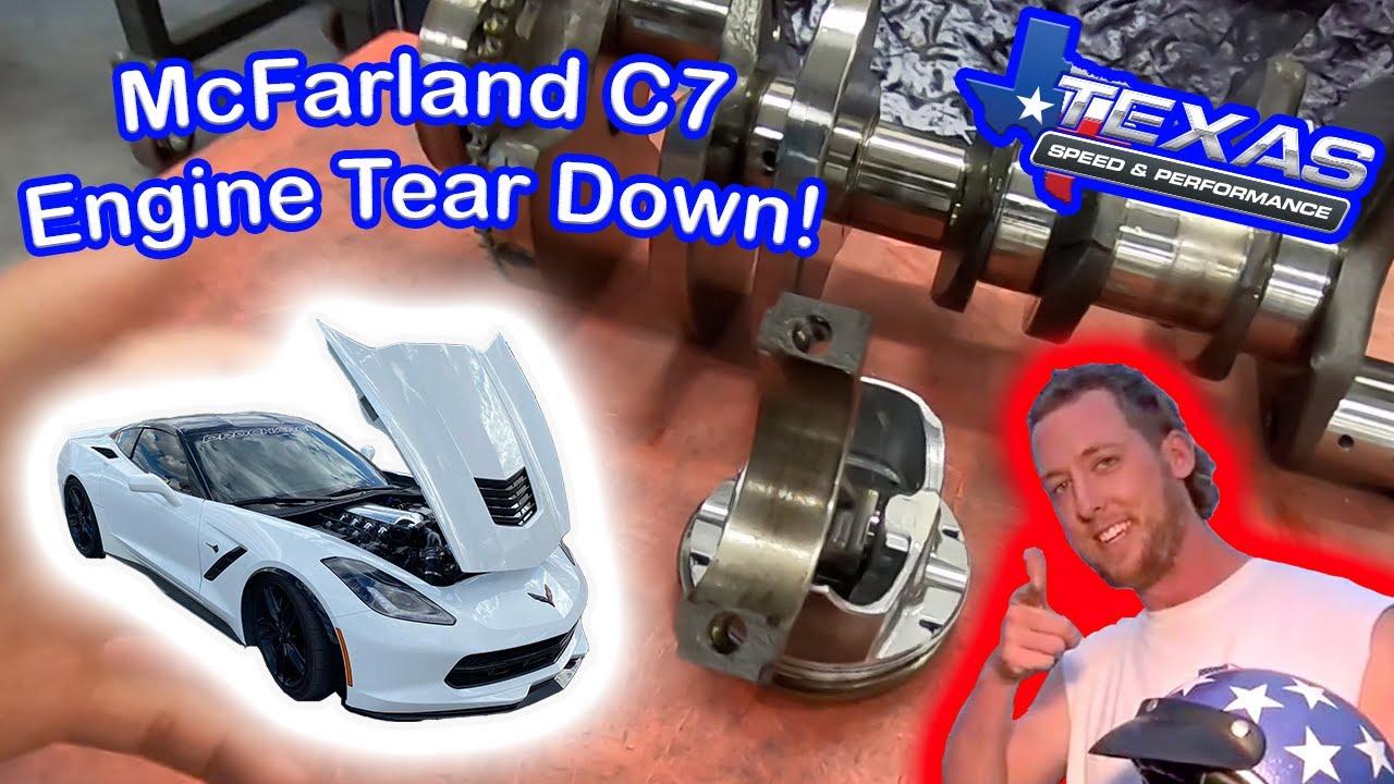 Cleetus McFarland C7 Engine Damage Report! NOT GOOD!