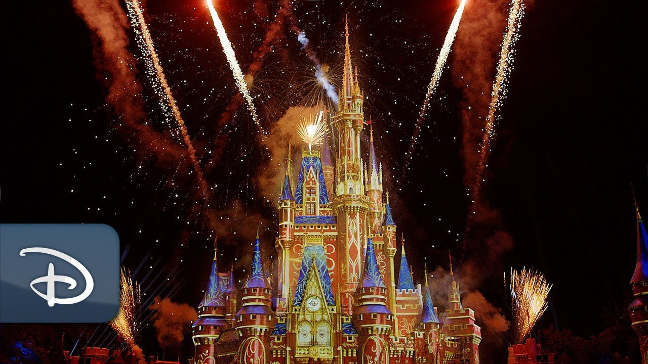 Close out your day in the best way possible…with virtual fireworks!   #DisneyMagicMoments