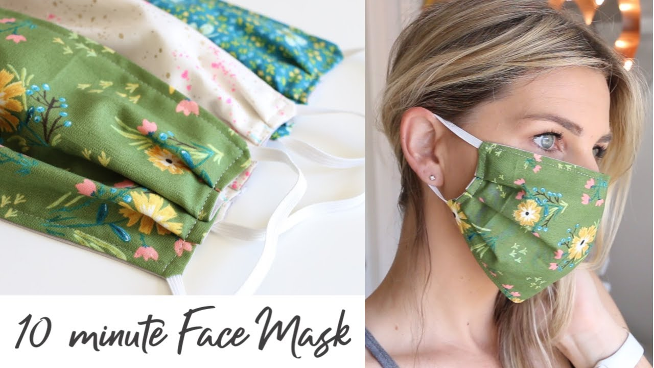 DIY Face Mask with Elastic in 10 minutes – Sewing Tutorial