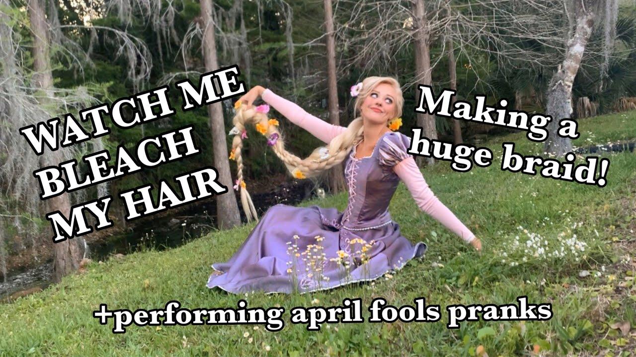 DIY Rapunzel Dress & Hair!