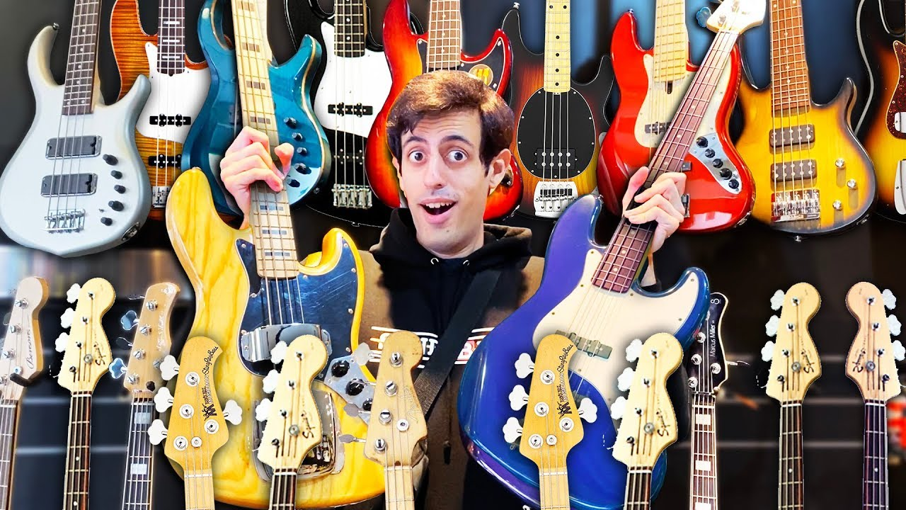 I Bought EVERY Bass Guitar I Could Find in My City 🎸(Giveaway)