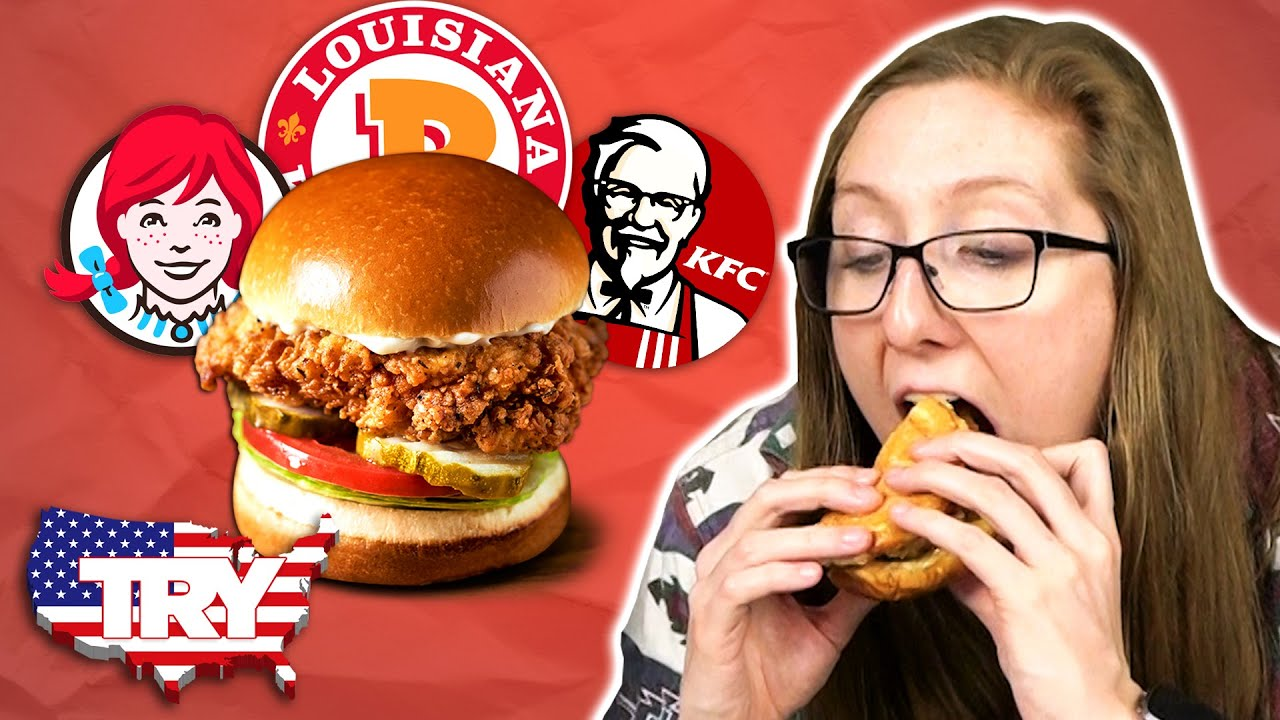 Irish People Try American Chicken Sandwiches For The First Time… in AMERICA!