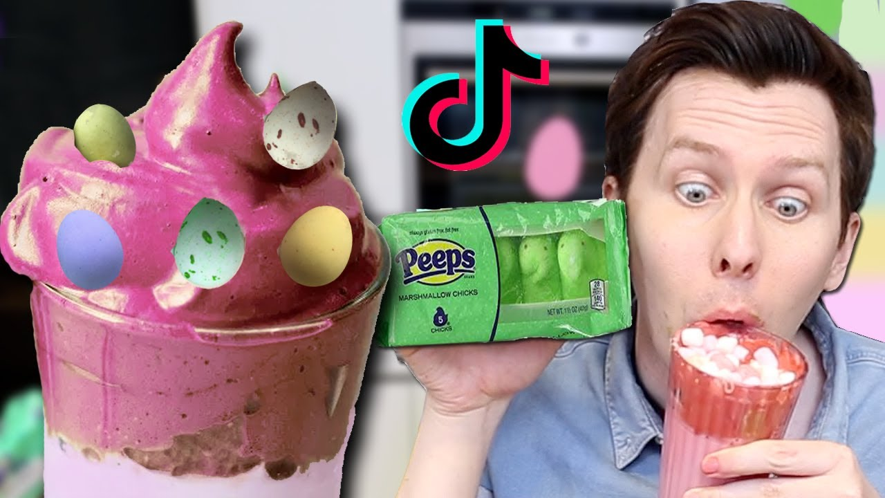 Making whipped tiktok Coffee – Easter Edition! 🐰