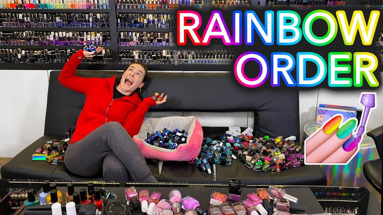 Organizing my 2,000+ Nail Polishes in Rainbow Order