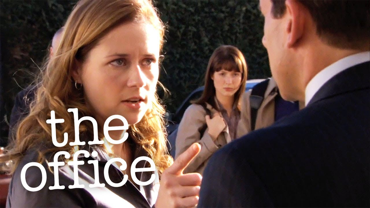 Pam Hits Michael  – The Office US