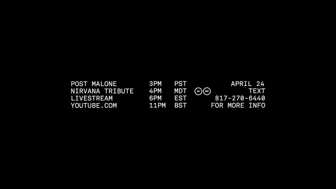 TUNE IN: Post Malone – Nirvana Tribute Livestream (April 24)