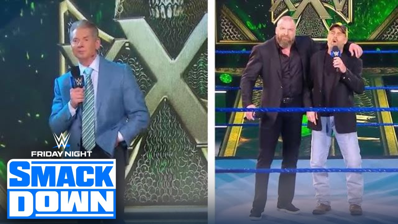 Vince McMahon, Shawn Michaels crash Triple H's 25th Anniversary Celebration | FRIDAY NIGHT SMACKDOWN