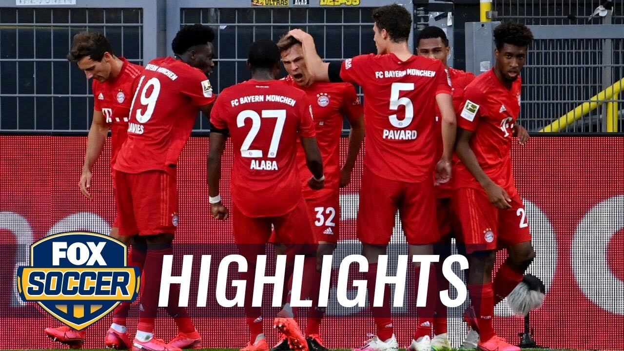 Bayern Munich's Kimmich stuns Dortmund with chip for game's only goal | 2020 Bundesliga Highlights