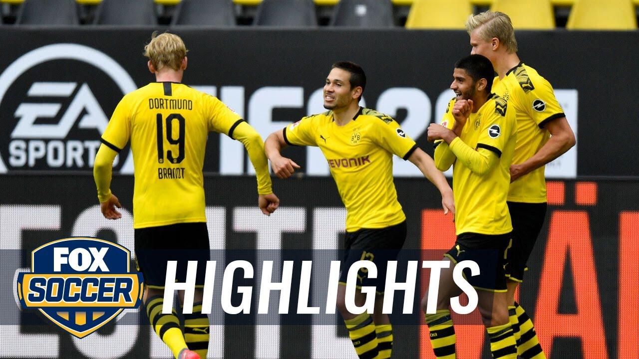 Borussia Dortmund nets 4 on return against FC Schalke 04 in Ruhr derby | 2020 Bundesliga Highlights