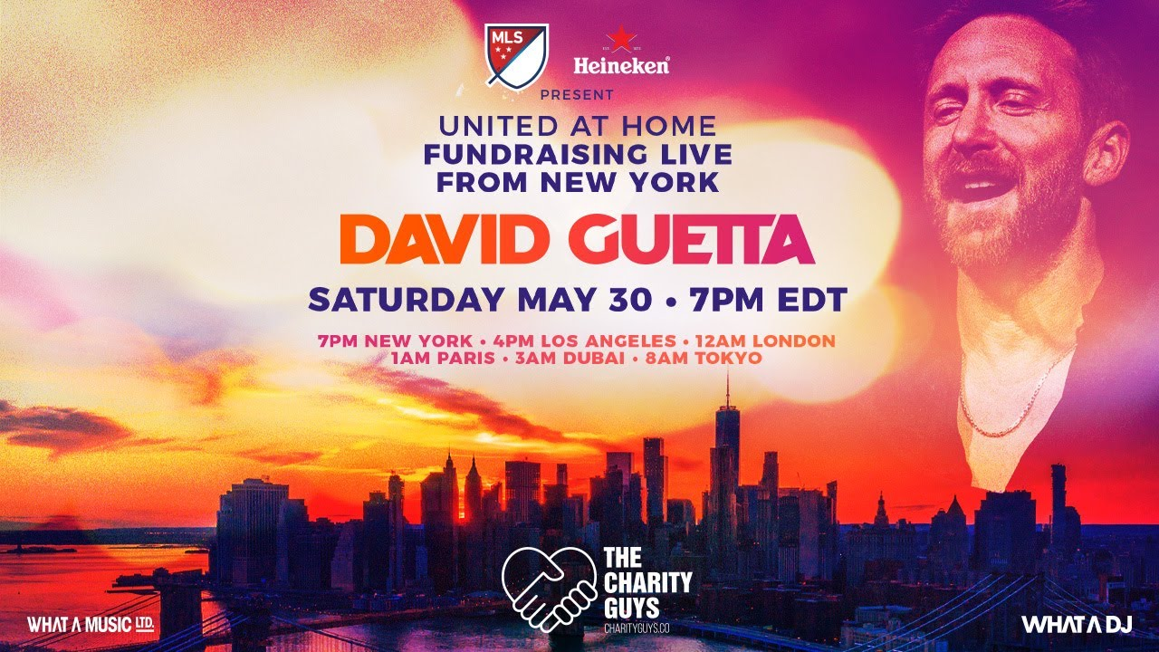 David Guetta / United at Home – Fundraising Live from NYC #UnitedatHome #StayHome #WithMe