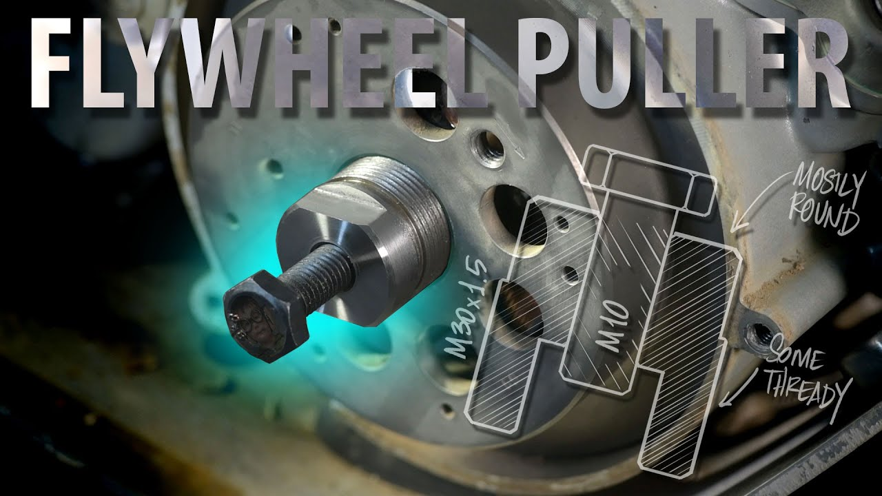 EASY Flywheel Puller… using ONLY industrial lathe and milling machine!!!