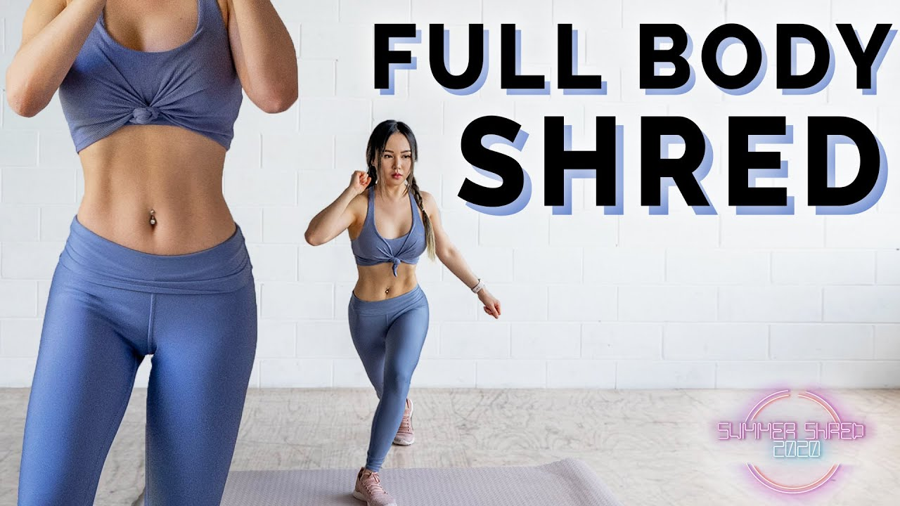 Get Shredded ? 12 Min Full Body HIIT Workout | Summer Shred Challenge