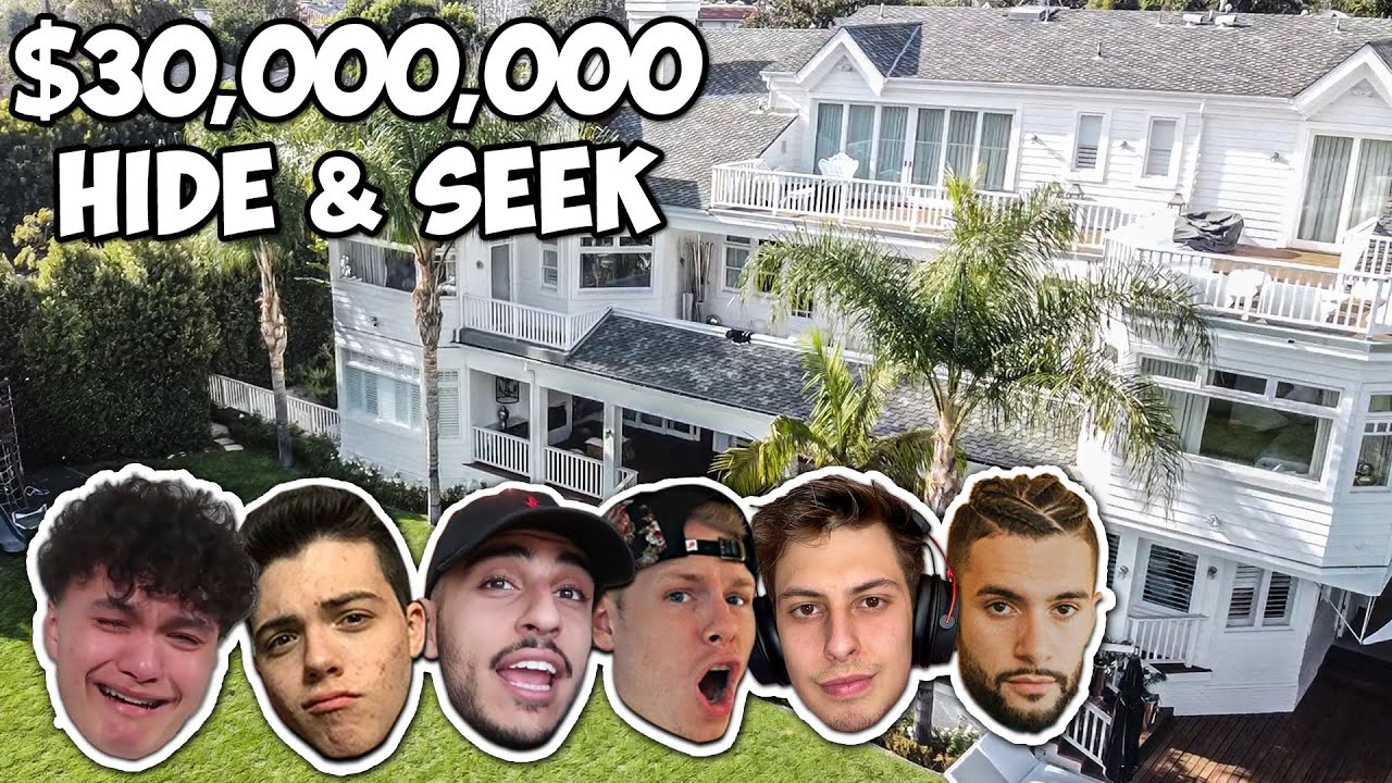 Hide And Seek In A $30,000,000 Mansion – FaZe House