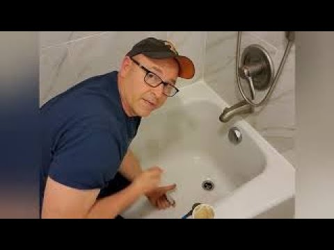 How to unclog a bathtub drain.