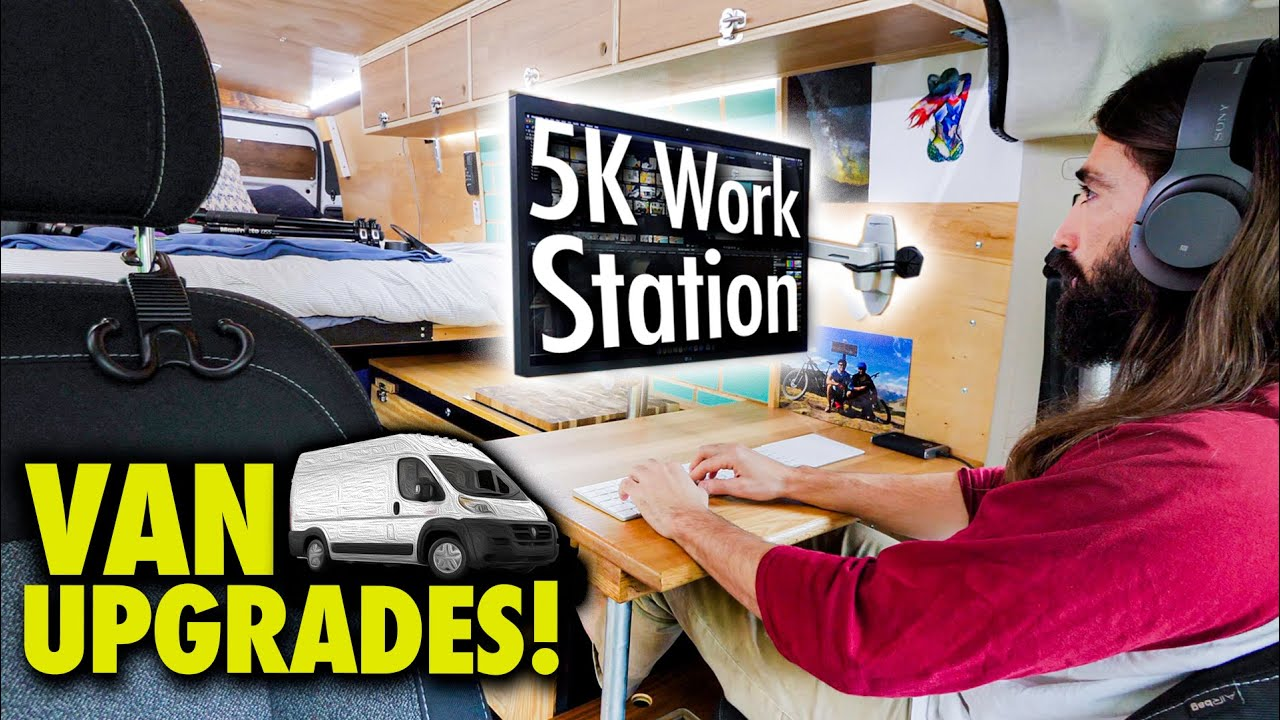 It's HUGE! Building out my camper van workspace with 5K screen, new lights, and charge station