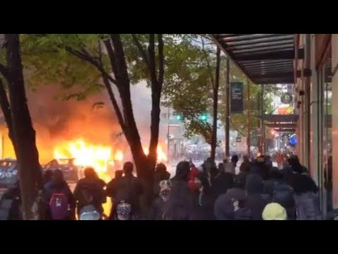 WATCH: Violent protests in downtown Seattle Saturday after rally over George Floyd's death