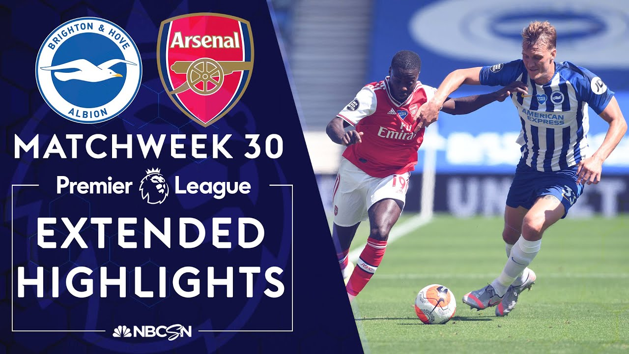 Brighton v. Arsenal | PREMIER LEAGUE HIGHLIGHTS | 6/20/2020 | NBC Sports