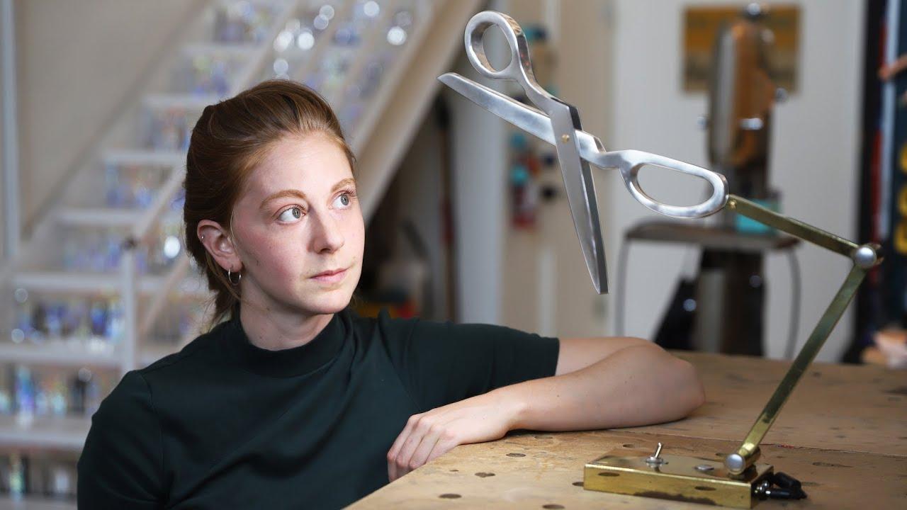 Building a custom scissor lamp