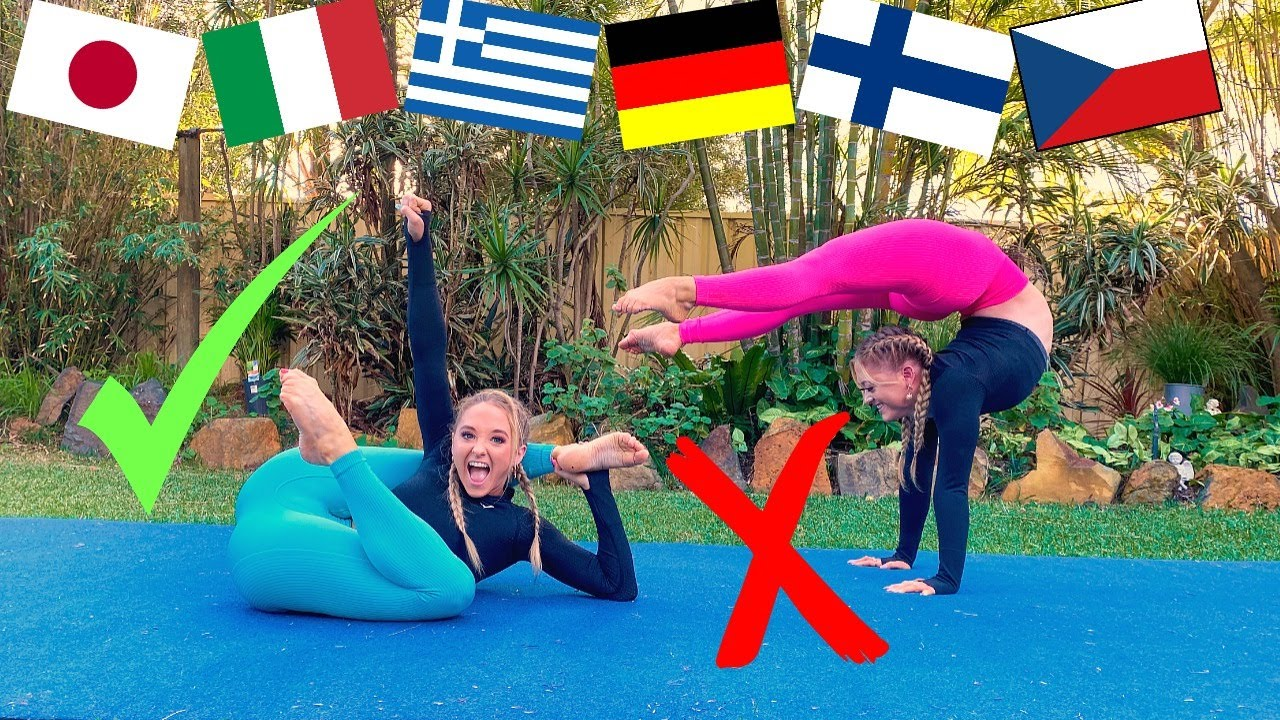 GOOGLE TRANSLATE ACRO GYMNASTICS CHALLENGE!
