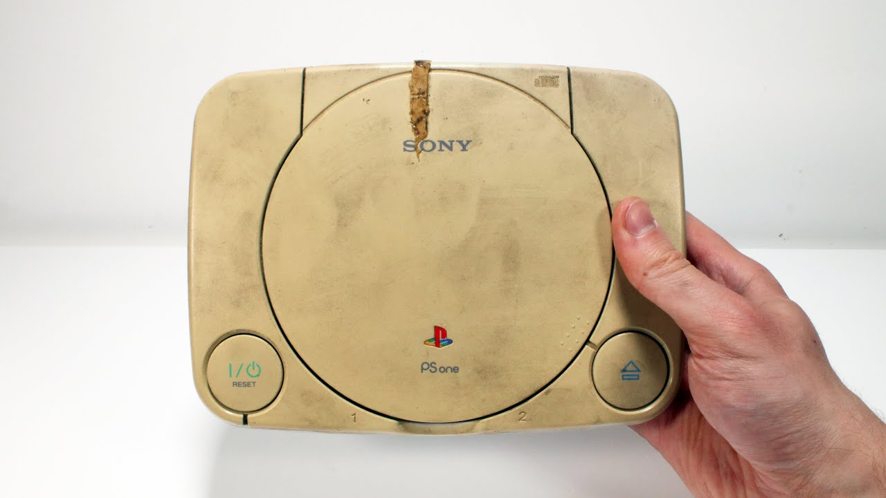 I Restored This  Yellowed & Broken PSone – Retro Playstation Console Restoration