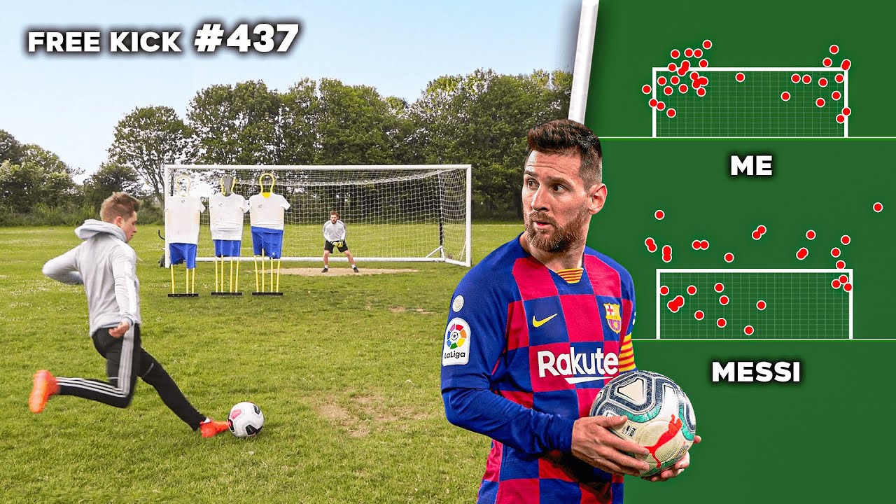 I Took Free Kicks Until I Became Better Than Messi (not even clickbait)