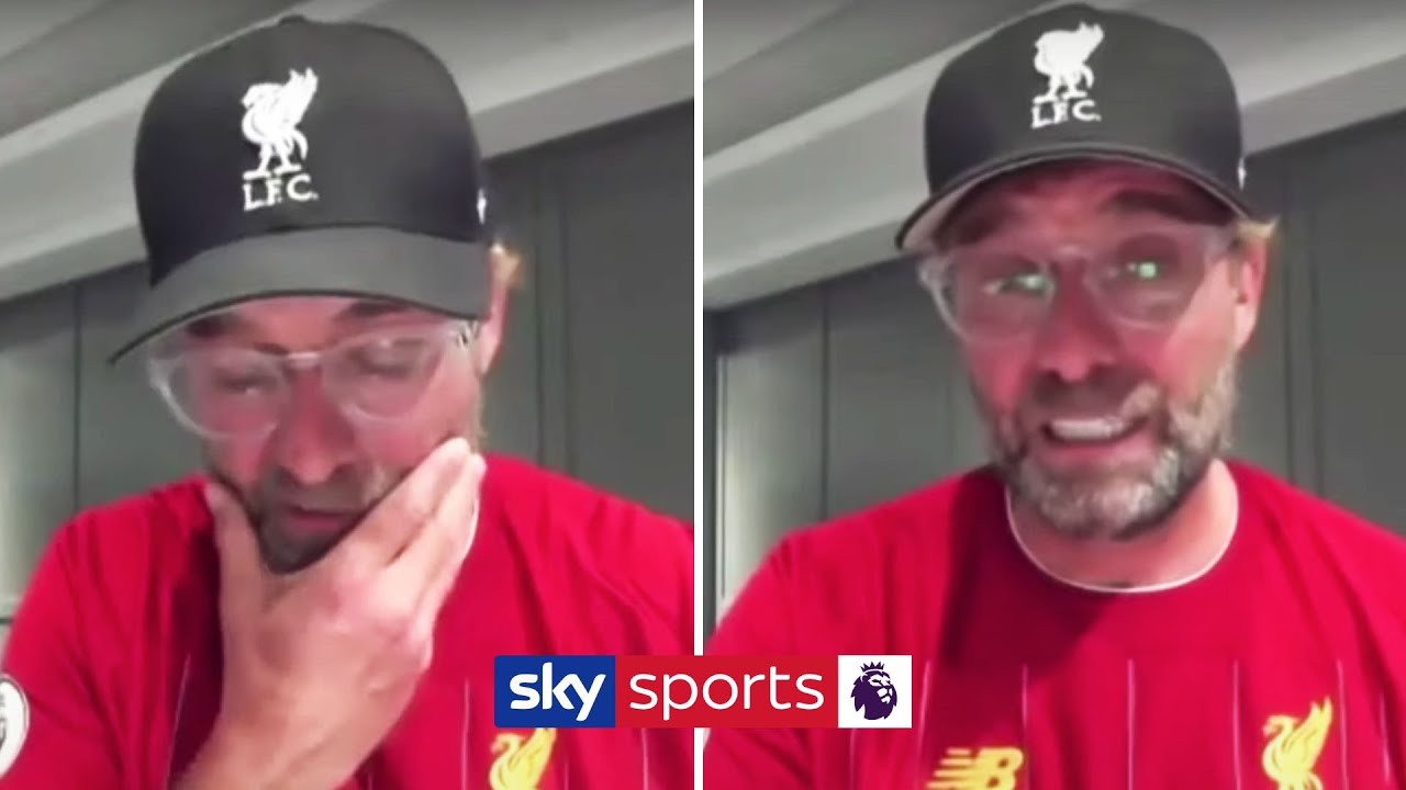 Jurgen Klopp's emotional reaction to Liverpool winning the Premier League ?