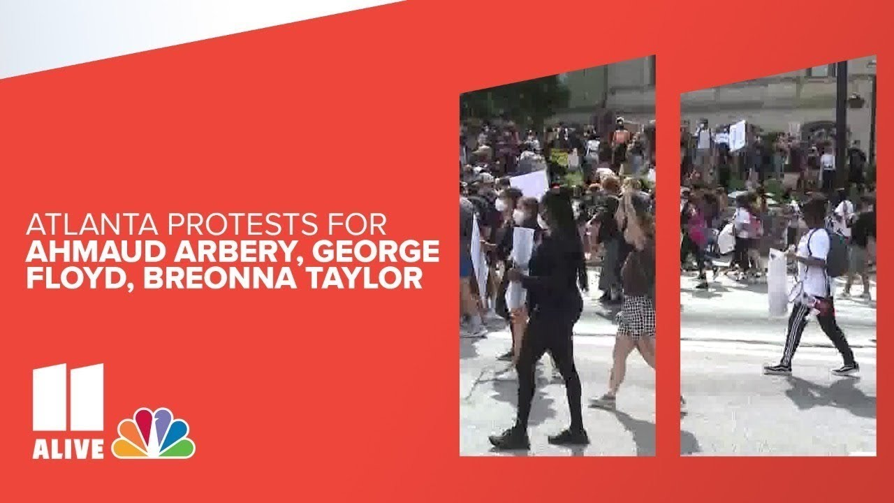 LIVE   Atlanta protesters begin gathering in downtown for third day