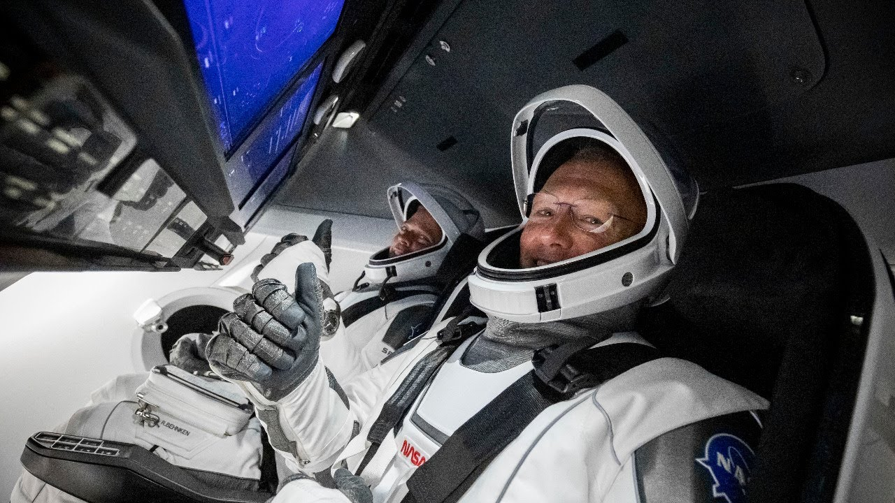 NASA Astronauts Arrive at the International Space Station on SpaceX Spacecraft