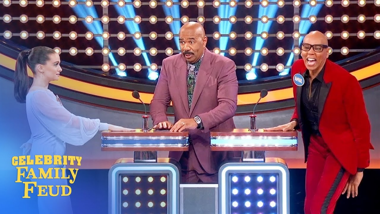 RuPaul writes his own question. Gets #1 answer! | Celebrity Family Feud